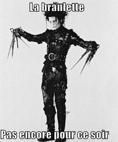 "Johnny Depp dans ""Edward Scissorhands"" de Tim Burton."